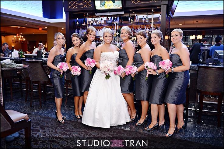 Grey & Pink Wedding
