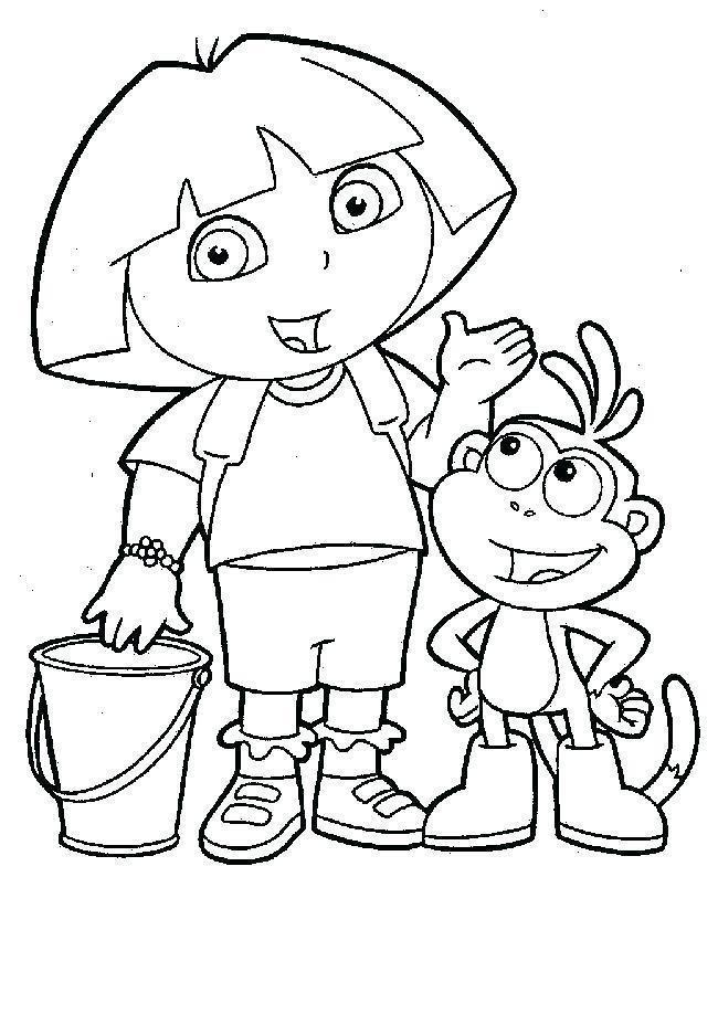 Coloriage Fille 4 Ans Dora Coloring Coloring Books Nick Jr Coloring Pages