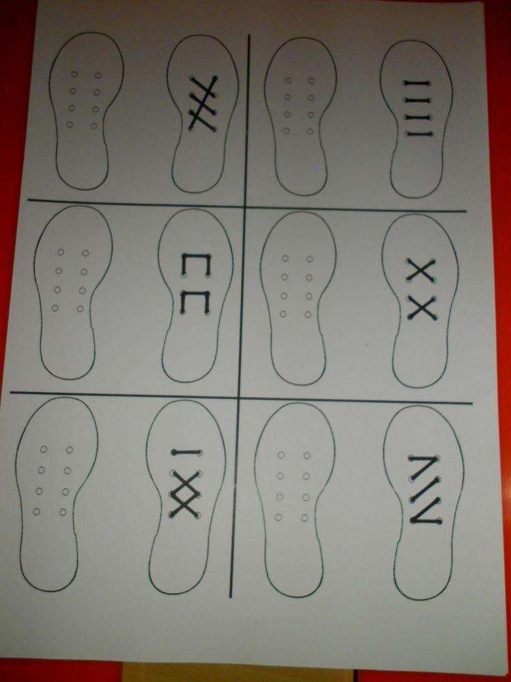 Raamfiguren met schoenen voor de linkshandigen: veter de andere schoen hetzelfde *liestr*