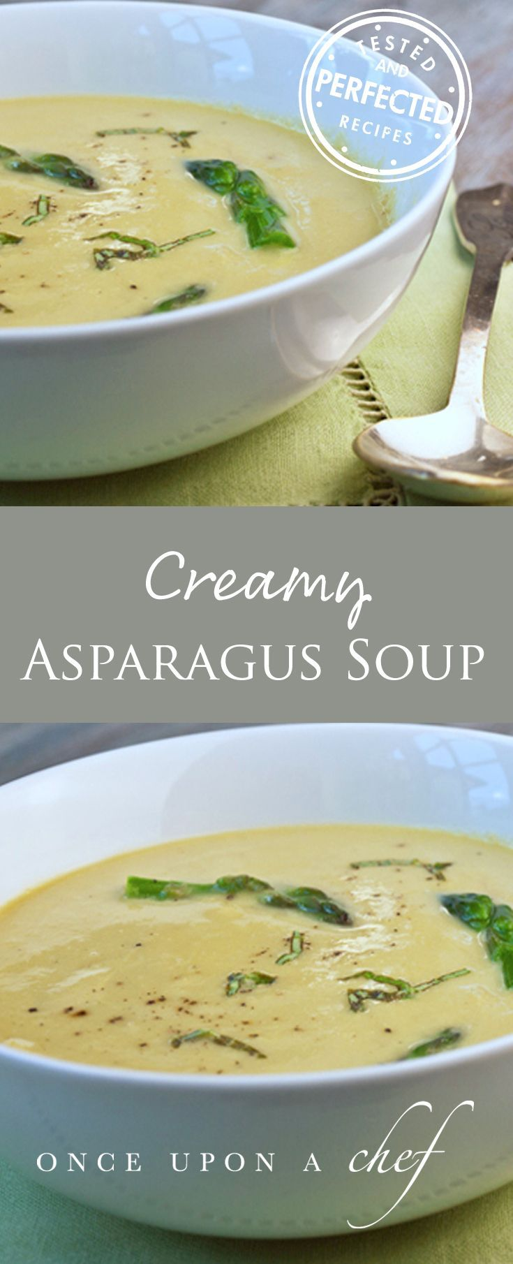 Asparagus Soup with Lemon and Parmesan. Excellent. Can add quorn nuggets