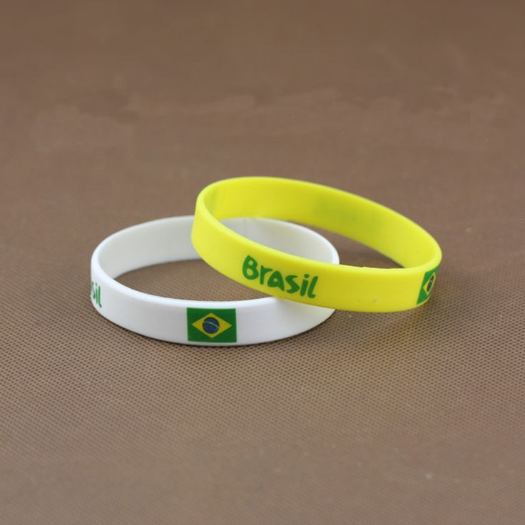 New Fashion Brazil, Rio de Janeiro 2016 Olympic Games flags silicone Bracelet  USA  Russia Bracelet For Fans #Affiliate