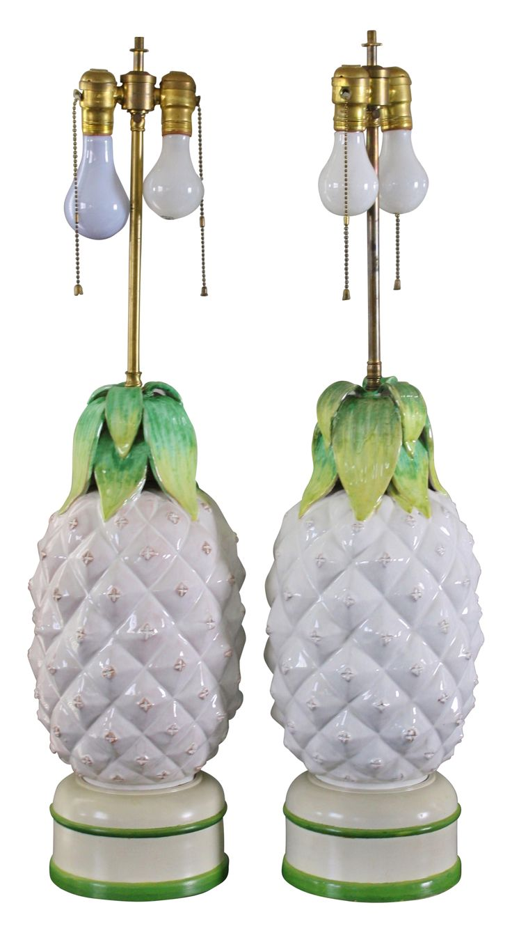 Palm Beach Style Pineapple Lamps - A Pair on Chairish.com