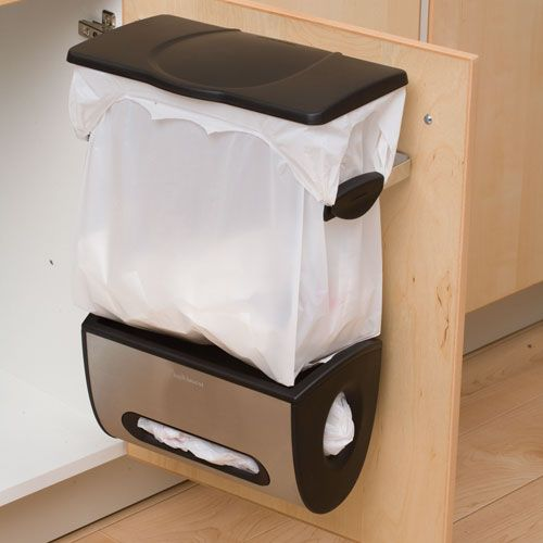 great way to get rid of those annoying little trash cans in the bathroom. also need one under the sink to use for throwing stuff that is destined for composting