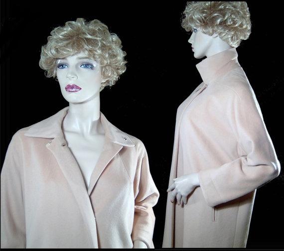 Vintage 1960s Jordan Marsh coat  Medium cream blush by fatspazzy, $225.00