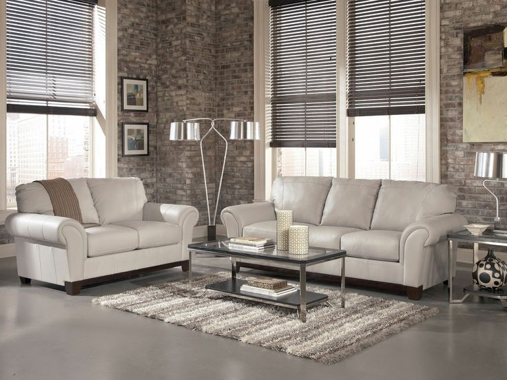 DARBY-CONTEMPORARY GRAY GENUINE LEATHER SOFA COUCH SET LIVING ROOM NEW  FURNITURE - 66 Best Images About Ideas For The House On Pinterest Dining