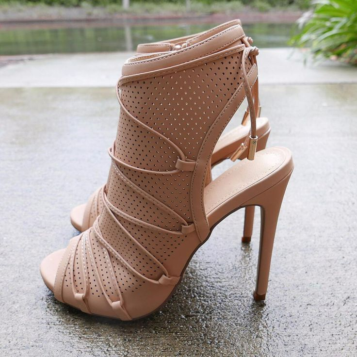 Open Toe Cross String Lace Heels