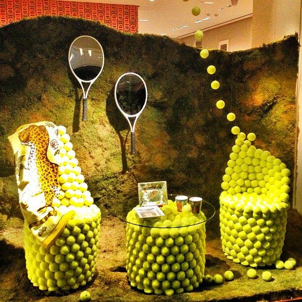 """HERMES,Istanbul Turkey, Nisantasi  Furniture Fair, """"Game,Set,Match"""", pinned by Ton van der Veer"""