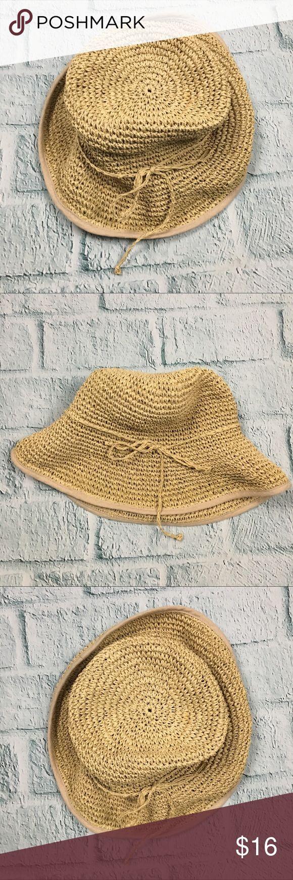 """Eddie Bauer Floppy Straw Beach Hat Floppy straw hat from Eddie Bauer featuring straw bow accent. Medium size brim. •Good used condition - gently worn. •100% Straw •One Size --- Circumferance (head part only) - 21"""" --- Brim to head part --- 4"""" --- Total diameter: ~15"""" Eddie Bauer Accessories Hats"""