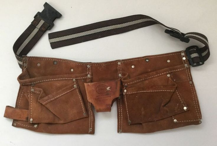 Nicholas Carpenter Electrician Tool Belt 493X Heavy Split Cowhide Nylon Strap #Nicholas