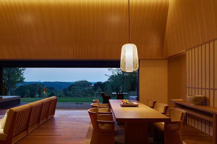 The Amanemu Villa dining area.