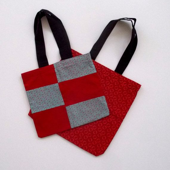 The Red Special. Two Red Tote Bags Special Pricing. by 5foot1