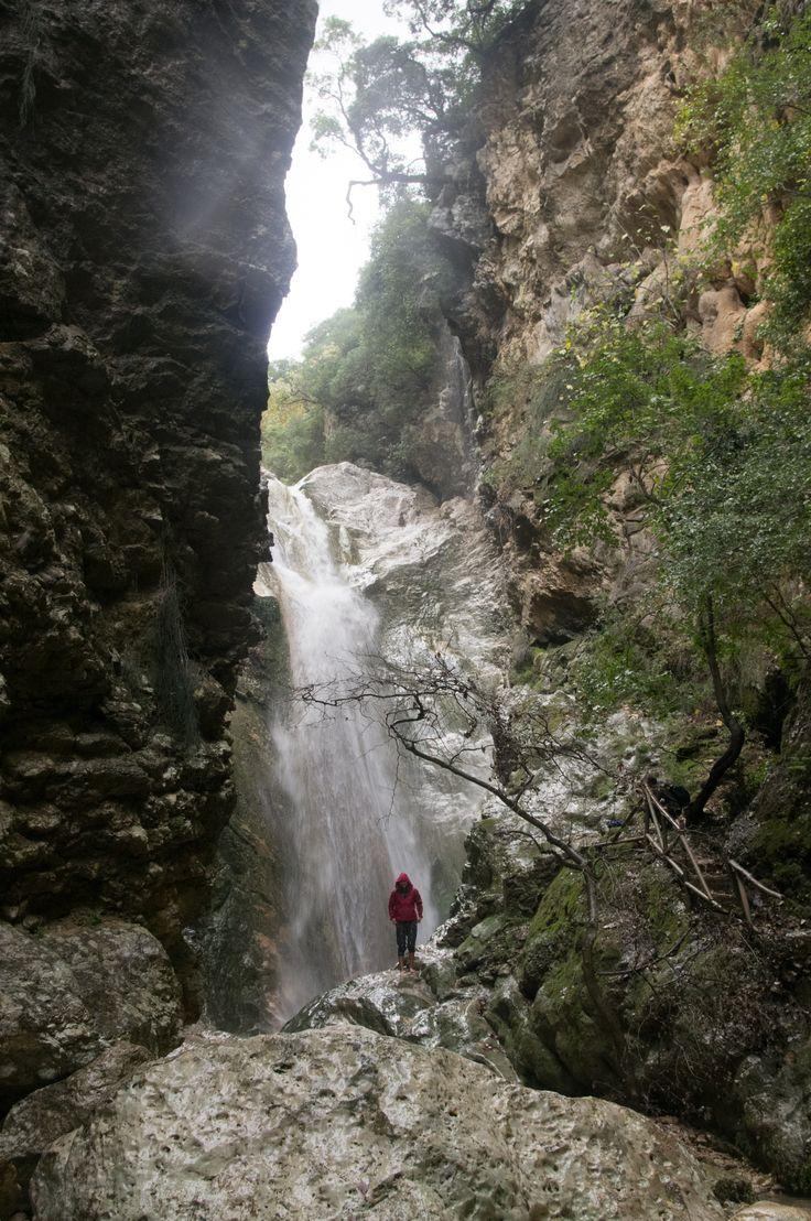 Nidri waterfall on Lefkada island, Greece