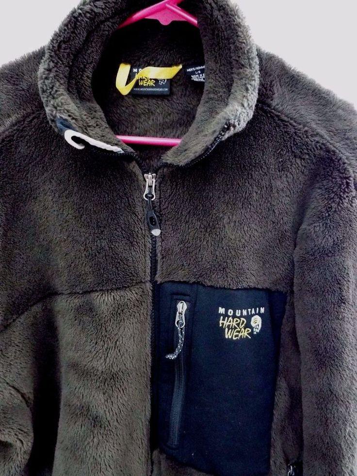 Mountain Hard Wear Mens Monkey Mountain Hardwear Jacket size L, Fleece,Brown,EUC #MountainHardwear #CoatsJackets