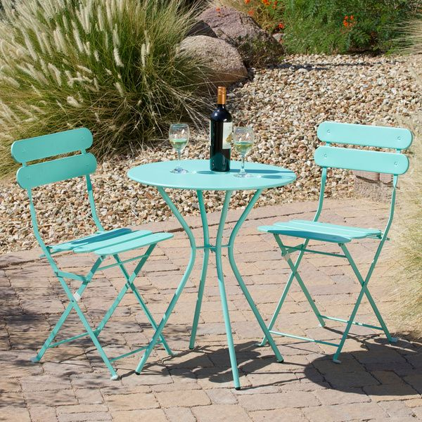 Sanibel Indoor/Outdoor Bistro Set In Blue   A Place In The Sun On Joss Main  Cute .wouldnu0027t Mind To Have A Couple For My Front Porch