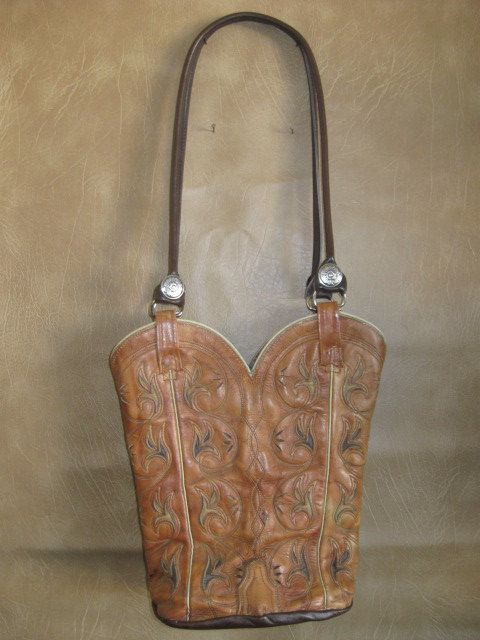 All Leather Cowboy Boot Purse