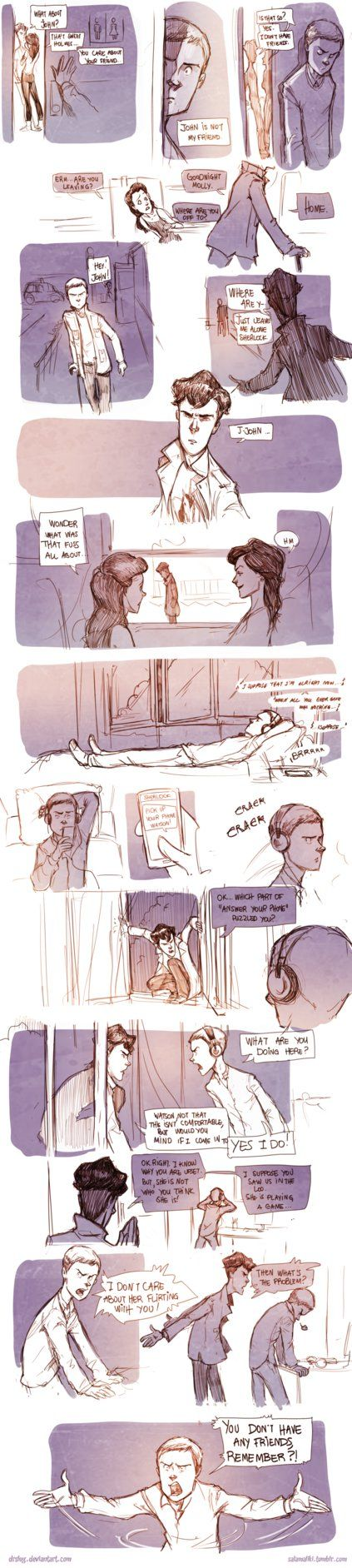 Teen Sherlock Irene pt3 by DrSlug on deviantART I love how he just busts through the window :)