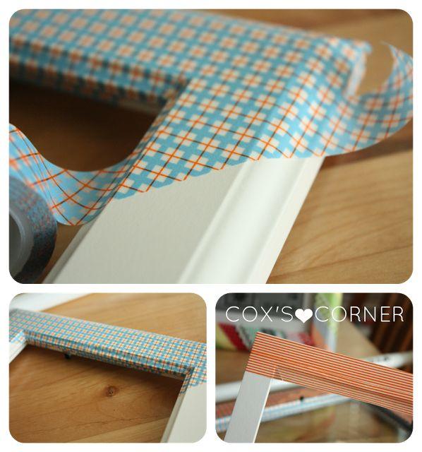 25 best ideas about washi tape frame on pinterest washi tape dorm washi tape wall and. Black Bedroom Furniture Sets. Home Design Ideas