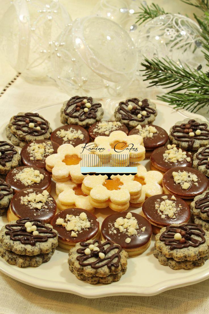 Linecké koláčiky - Linz Christmas Cookies Three Ways