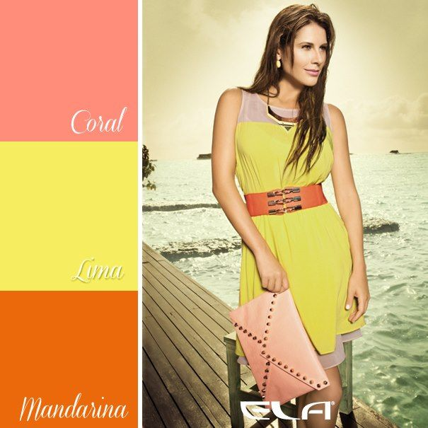 Los colores neones y pasteles se atraen en esta temporada, completa este look con un toque citrico en el cinturón o los accesorios.