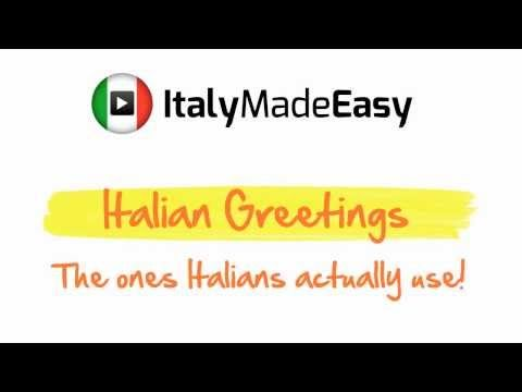 ▶ Italian Greetings - The ones Italians actually use! - YouTube