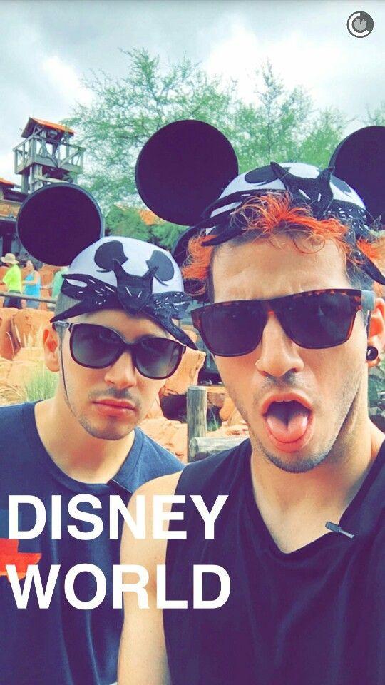 Josh's snapchat with Tyler at Disney world   Twenty one pilots