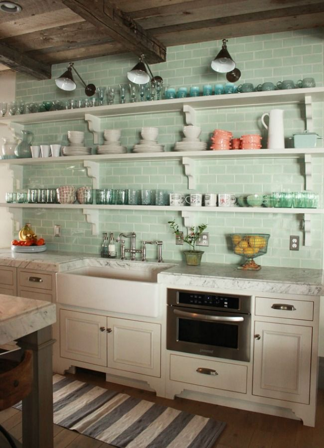 Green glass subway tile .... ahhh, in love! Designer Crush: Desireé Ashworth