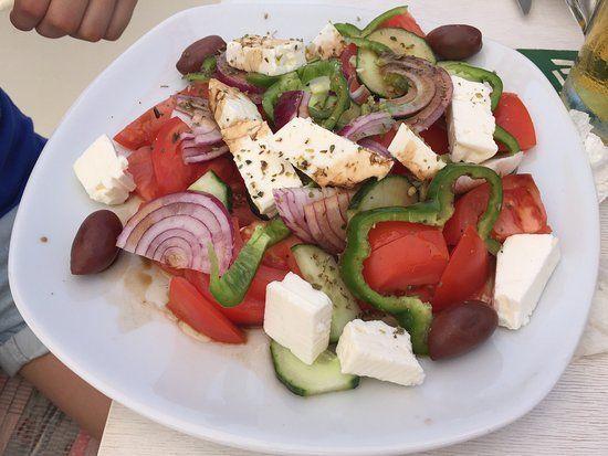 Traveler photo by Fingateable: Greek salad (Aug 2016) — at El Greco Steakhouse Restaurant.