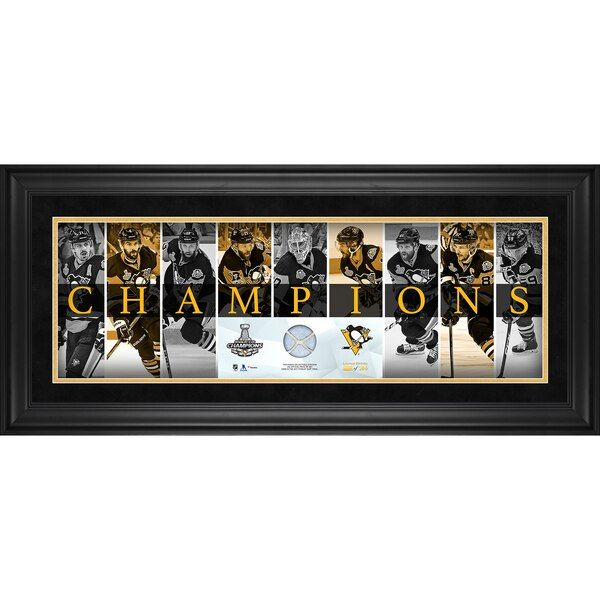 Pittsburgh Penguins Fanatics Authentic 2017 Stanley Cup Champions Framed 10 X 30 Champions Panor Stanley Cup Finals Stanley Cup Champions Pittsburgh Penguins