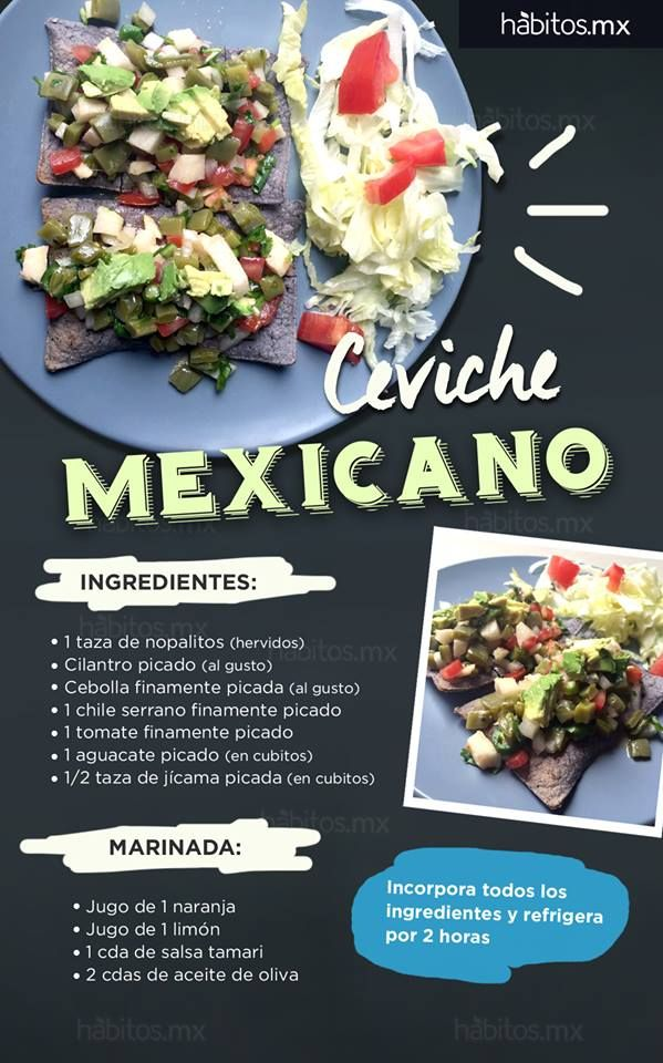 Hábitos Health Coaching | CEVICHE MEXICANO