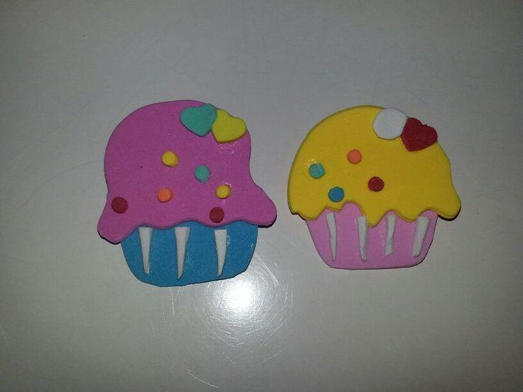 Broche cupcake foam-goma eva