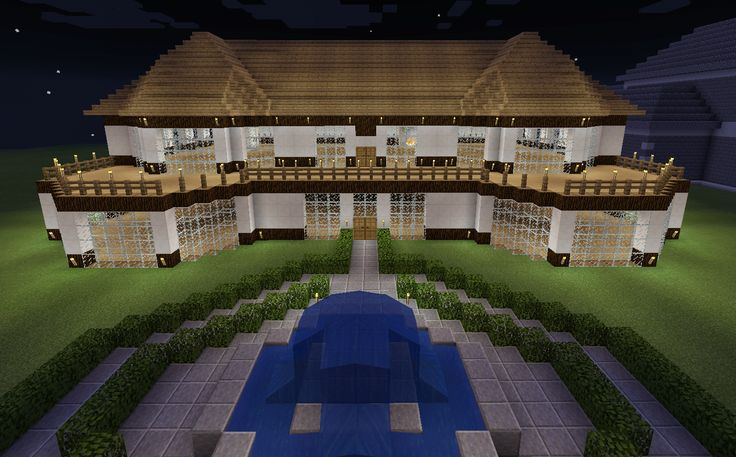 Minecraft Realistic House With Balcony Deck Wood House