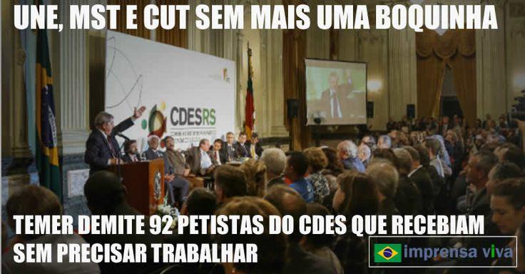 Após afastar o biógrafo de Lula, Fernando Moraes, sindicalistas e membros do MST E CUT do Conselho de Desenvolvimento Econômico, o famos...