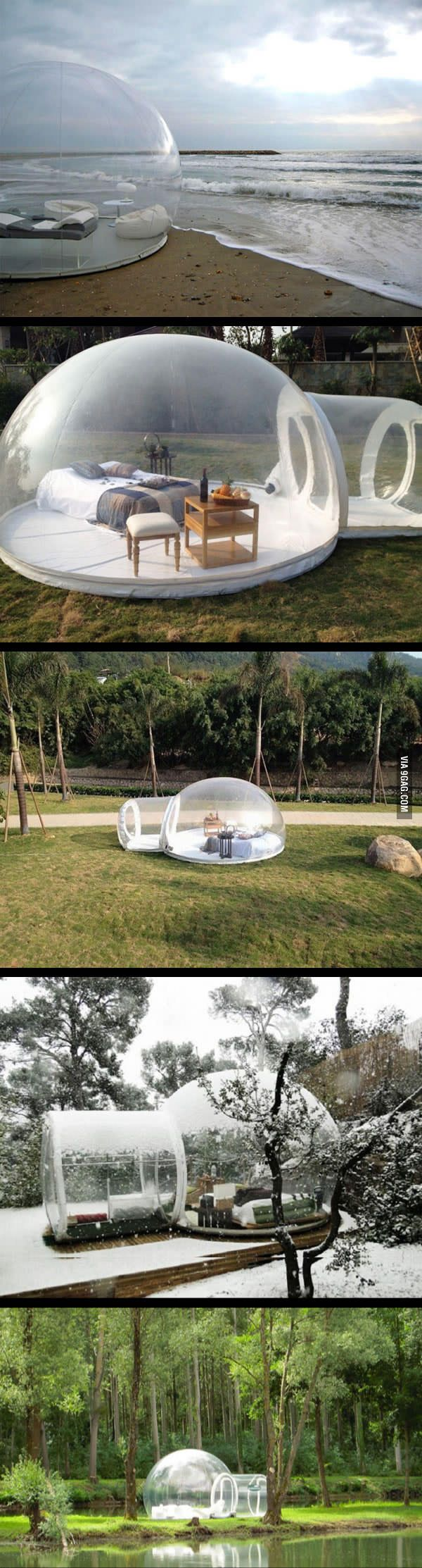 This Transparent Bubble Tent Is What I Need In My Life