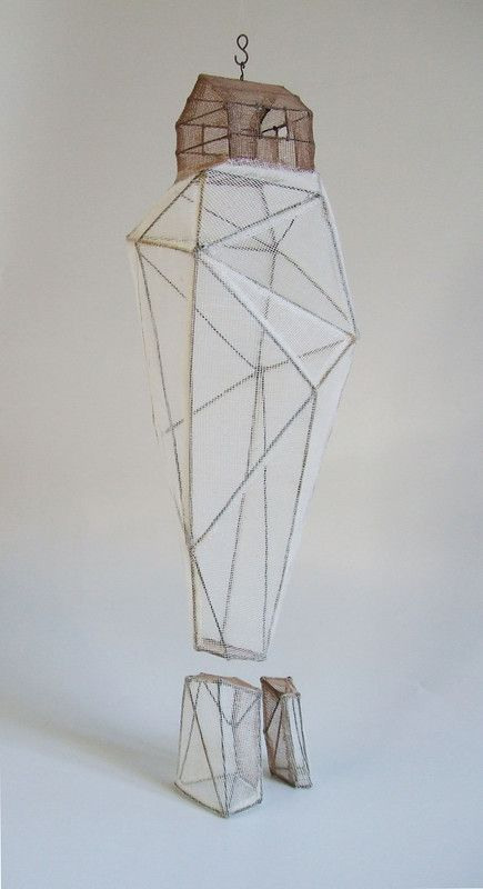 """""""Rocher habité"""" 03 sculpture - Isabelle Bonte - de Fer est mon Fil - 2015"""