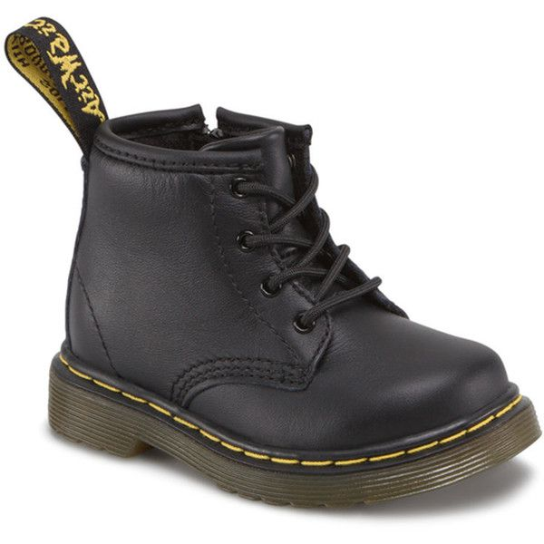DR. MARTENS Brooklee Toddler shoes ($60) ❤ liked on Polyvore featuring baby, baby clothes and black softy t