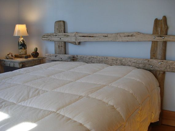 Rustic Driftwood Headboard by DriftwoodTreasures on Etsy