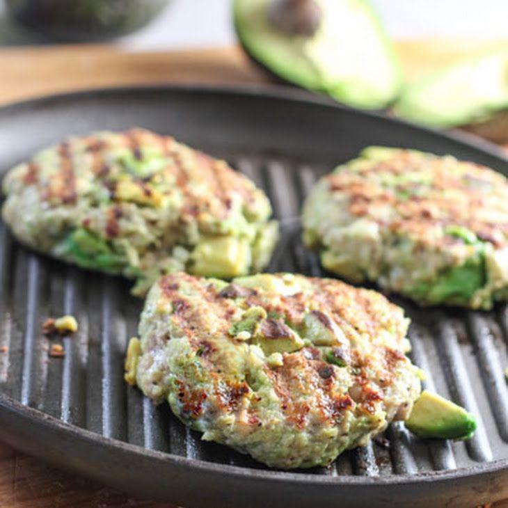Chicken Avocado Burger Recipe Main Dishes with ground chicken, garlic, avocado, panko breadcrumbs, salt, pepper