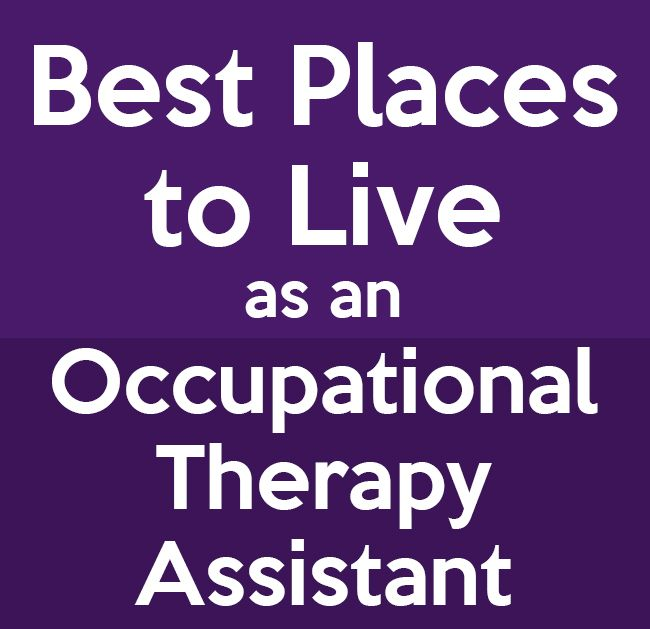 Take a look at the best places to find a job as an occupational therapy assistant.