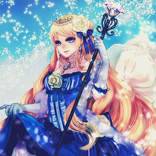 Amazing anime art beautiful beauty blonde blue dress - Manga princesse ...