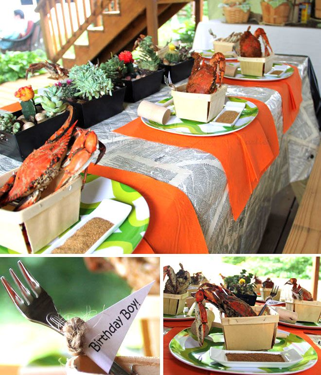 Father's Day Crab Feast Party Feature | Party Ideas | Crab ...