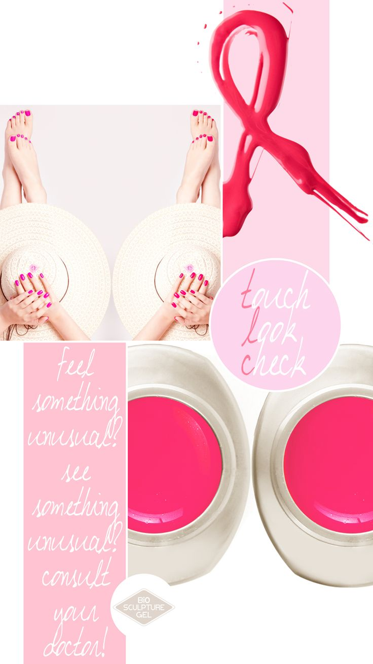 Ladies do you know what time of the year it is? It's October and that means it's Breast Cancer Awareness Month! Get your beautiful pink mani or pedi now at your nearest Bio Sculpture Nail Salon in support of Breast Cancer Awareness. Also remember to go for a check up or mammogram to ensure you're cancer free!