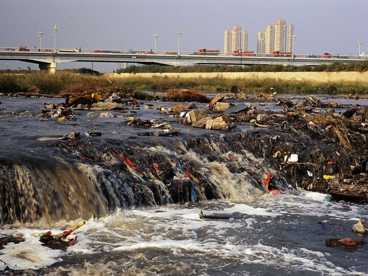 <p>Photo: Dumping of chemicals and other filth pollutes the Fen river</p>
