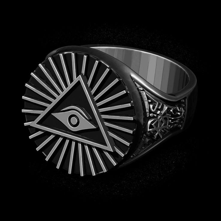 Skive Jewelry | Anel Olho que tudo vê (Prata) Oldschool | Tattoo | Anel Masculino | Anéis | Rings | Jewelry | Joias | Tattoo | Mythology