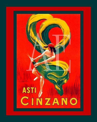 Italian Art ~ VINTAGE ITALIAN POSTERS   ~ Cappiello ~ ASTI CINZANO Champagne   #TuscanyAgriturismoGiratola #vintageitalianposters