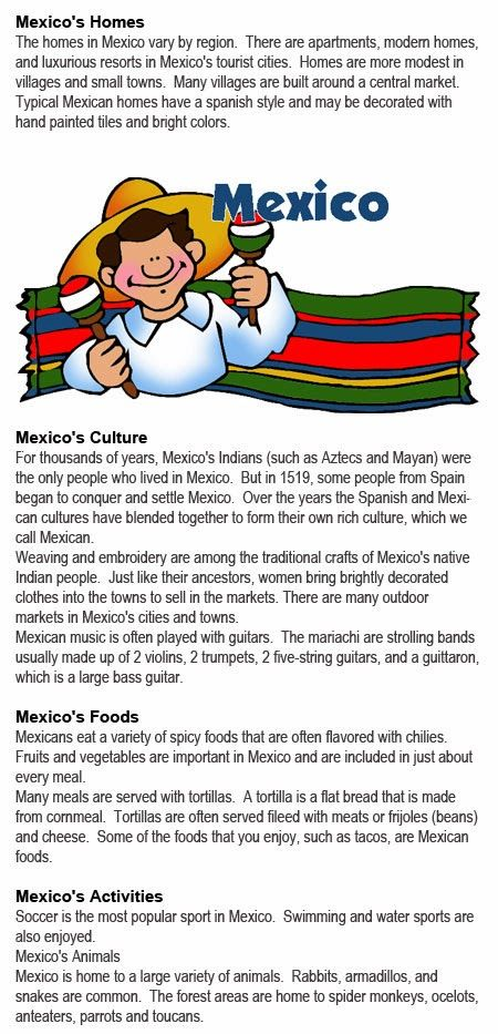 All about Mexico for kids http://firstchildhoodeducation.blogspot.com/2013/10/all-about-mexico-for-kids.html