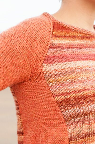 Party mix pullover: Knittyspin Deep Fall 2012 - perfect for an ombre or gradient sweater kit!