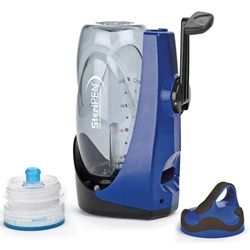 STERIPEN SIDEWINDER - Crank it up! This eco-friendly, portable UV water purifier requires no batteries to purify 1L of water in 90 seconds. The 8,000-dose UV light destroys viruses, bacteria and protozoa. No parts to replace or clean, Sidewinder is always ready. Includes BPA-Free bottle and Pre-Filter. Perfect for campers or emergency use.