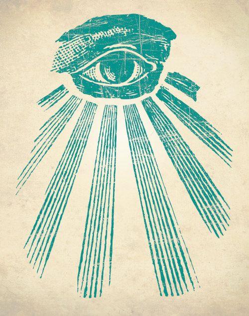 ALL SEEING EYE Art Print Occult Art Print by theNATIONALanthem