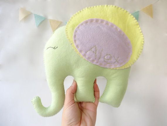 Elephant plush Animal, Felt elephant, plush Toy, elephant nursery room, nursery room decor, baby toy by LaPetiteMelina