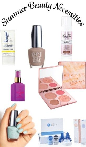 Here are some of the must have items you need to add to your summer beauty necessities list! From fun nail colors, to glowing skin!